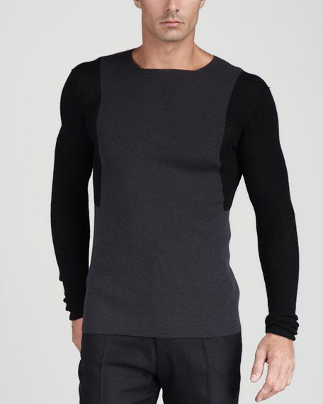 Colorblock Crepe Sweater