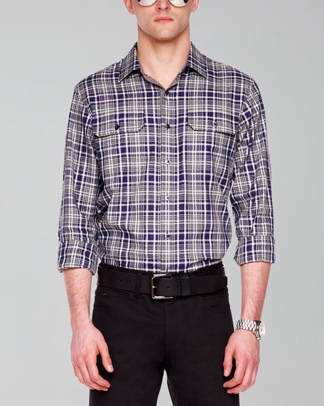 Two-Pocket Woven Shirt