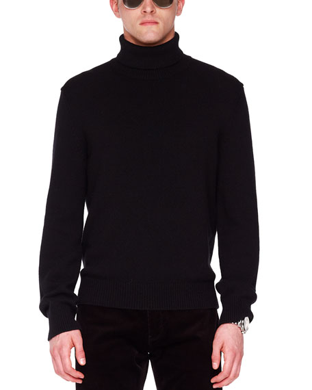 Mock-Neck Waffle Sweater