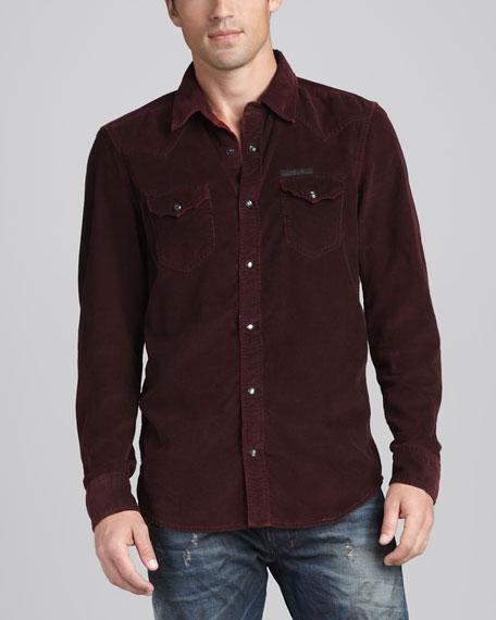 Svarog Baby-Cord Western Shirt