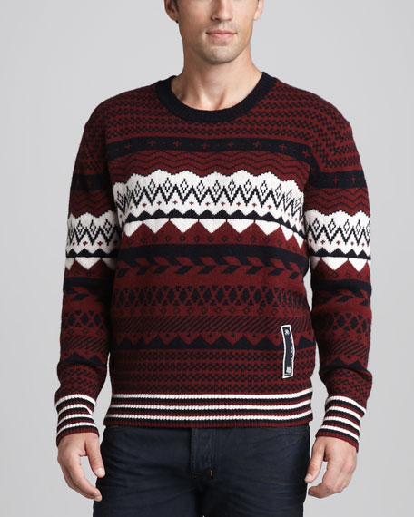 Over Jacquard Sweater
