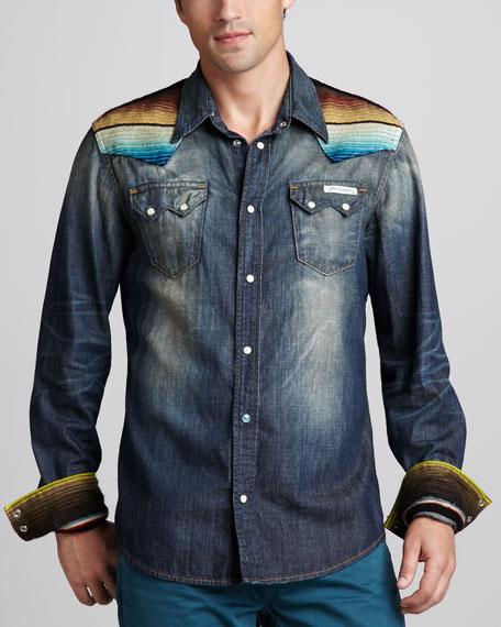 Sean Baja Denim Western Shirt