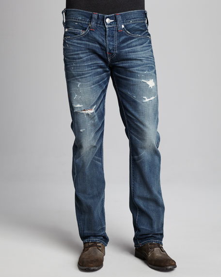 Bobby Flag-Patch Jeans