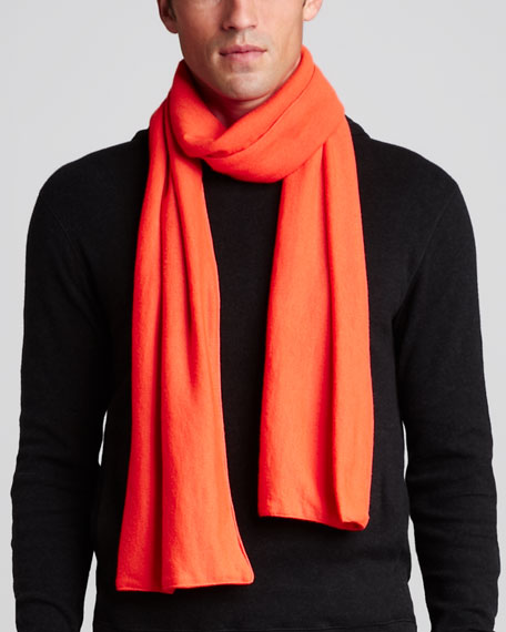 Cashmere Scarf, Polar Orange