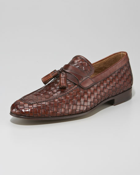 Woven Tassel Loafer, Brown