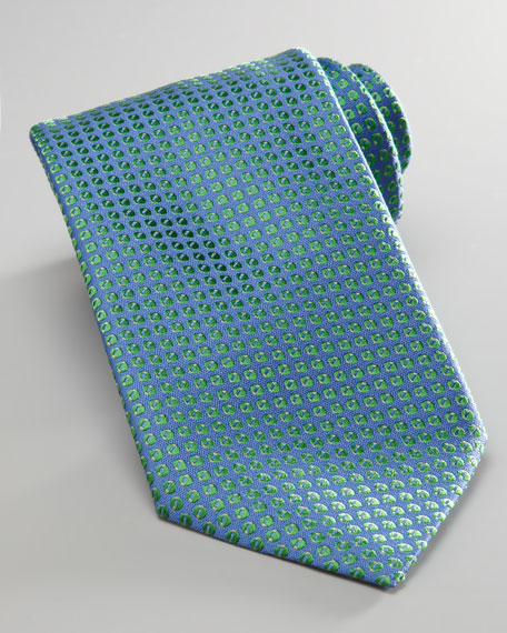 Mini-Neat Tie, Blue/Green