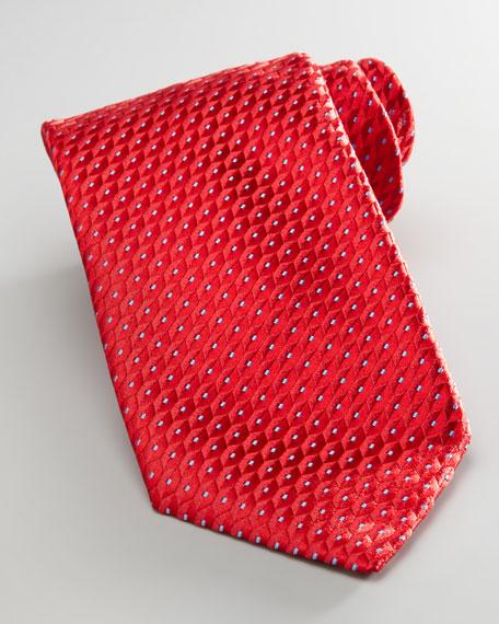 Geometric Dots Tie, Red
