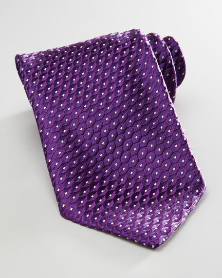 Geometric Dots Tie, Purple