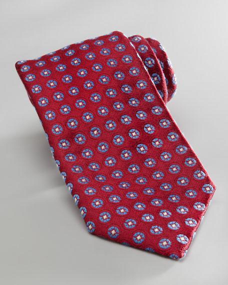 Circles Tie, Magenta/Blue