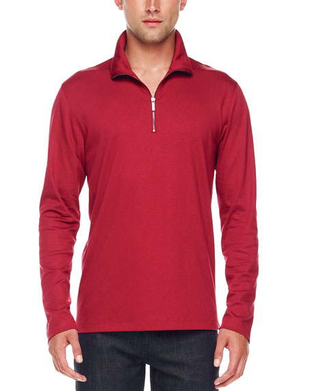 Half-Zip Slub Shirt