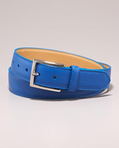 Leather Belt, Royal Blue