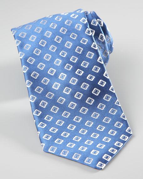 Squares Tie, Blue