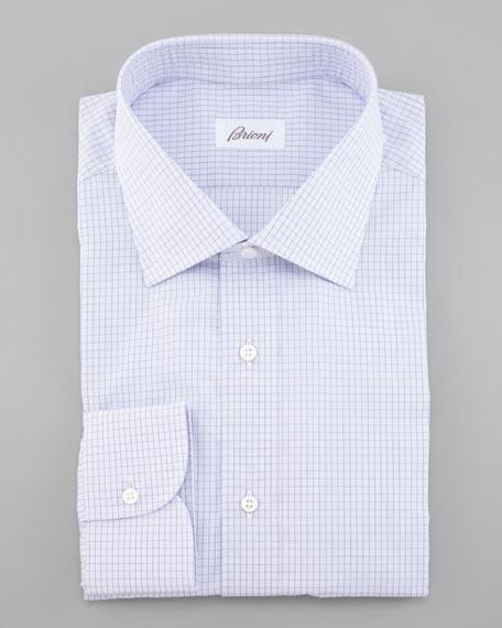 Mini-Check Dress Shirt, Lilac