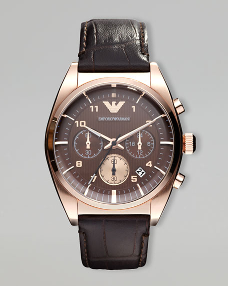 Classic Chronograph Watch, Rose Golden