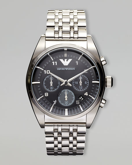 Classic Chronograph Watch, Stainless Steel