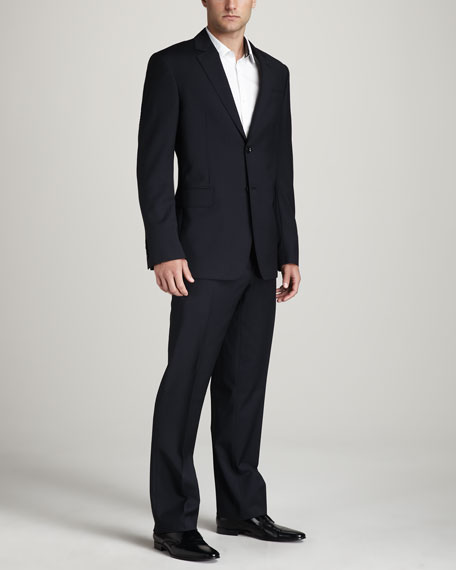 Classic Two-Button Suit, Navy