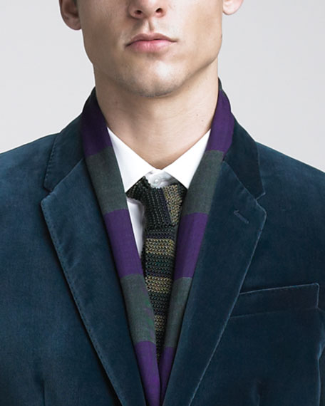 Striped Silk Tie, Green