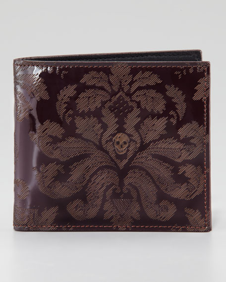 Brogue Skull Classic Wallet, Oxblood