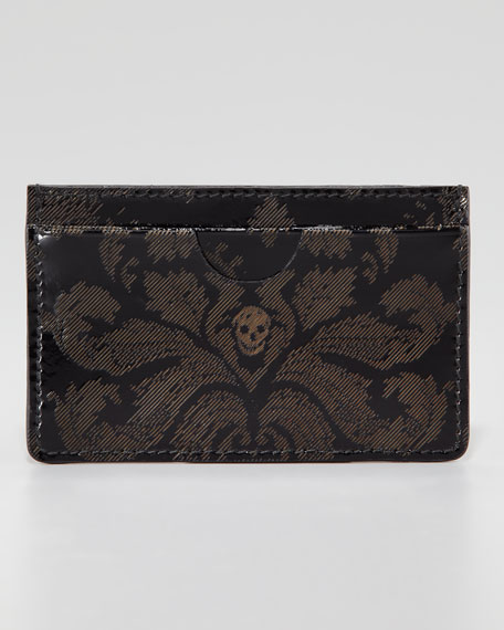 Brogue Skull Classic Card Case, Black