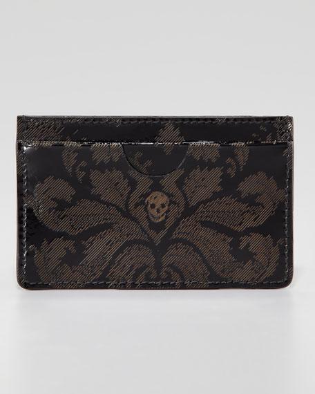 Brogue Skull Classic Card Case, Black
