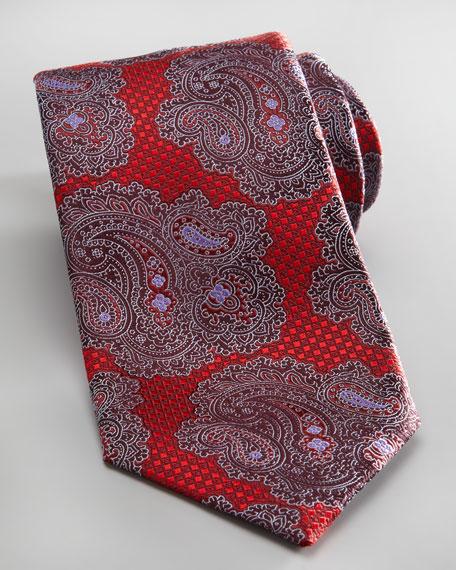 Paisley/Check Tie