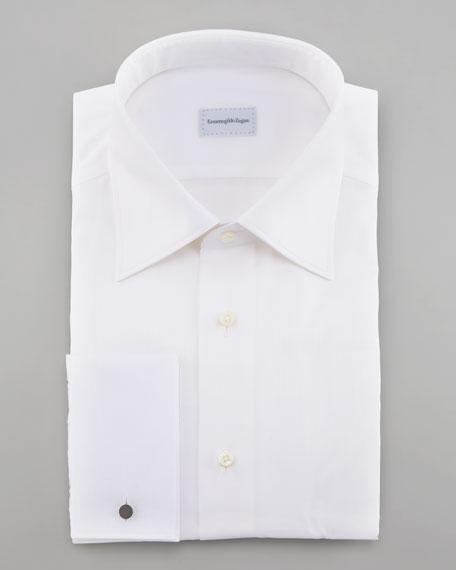 Tonal-Stripe Dress Shirt, White