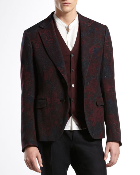 Sketch-Print Flannel Dandy Jacket