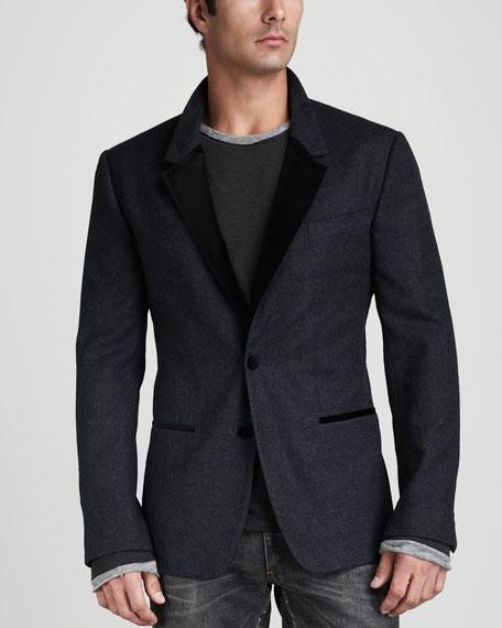 Velvet-Collar Sport Coat