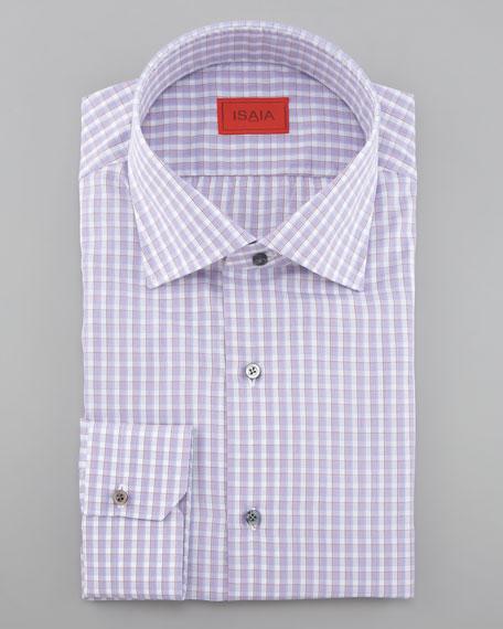 Box-Check Dress Shirt, Light Purple