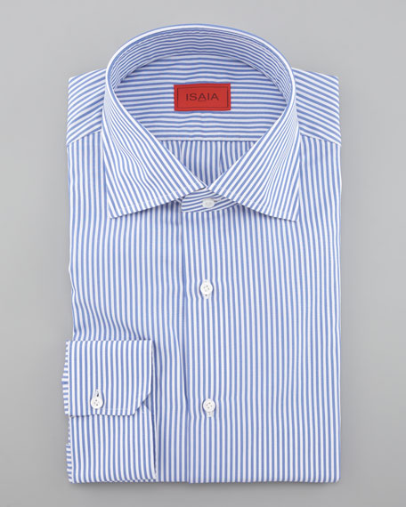 Striped Dress Shirt, Blue/White
