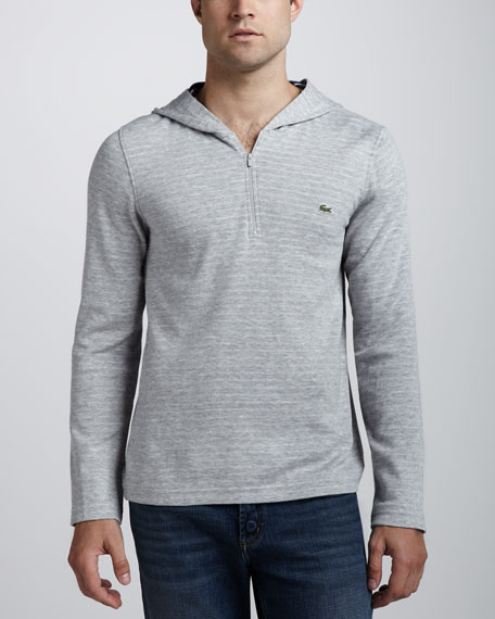 Double-Face Zip Hoodie, Gray