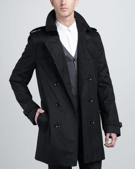 Double-Breasted Poly-Cotton Trenchcoat