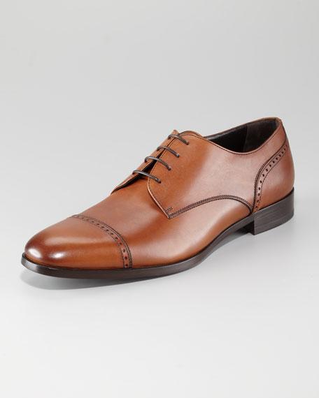Mantova Cap-Toe Shoe, Tan
