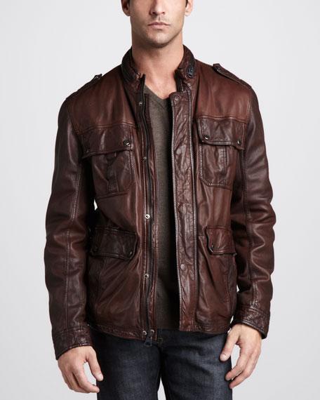 Warrant Waxed Leather Jacket