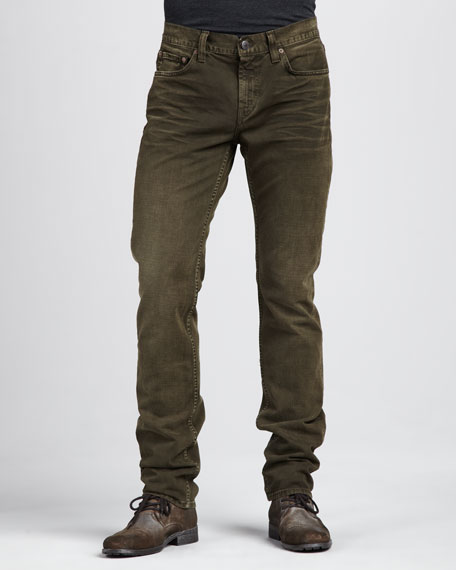 Kane Weathered Olive Jeans