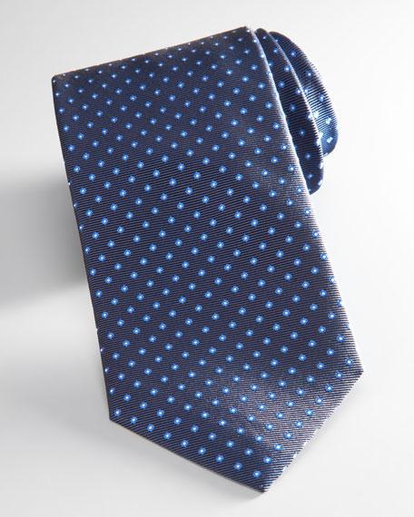 Pin Dot Tie, Navy