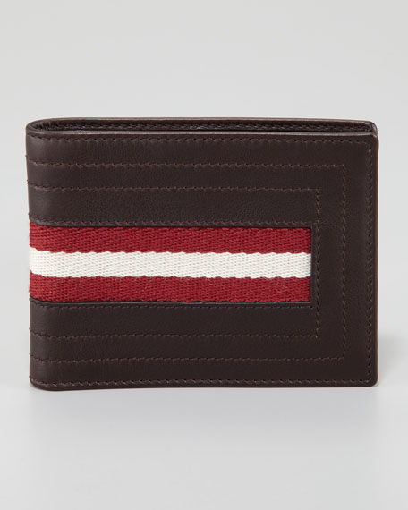 Web-Trim Wallet, Chocolate