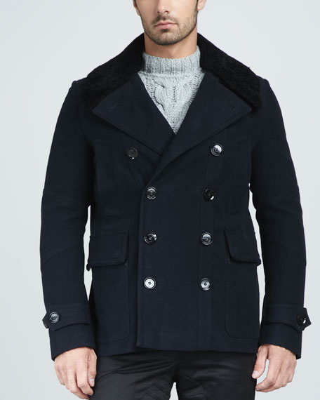 Uppingham Moleskin Pea Coat