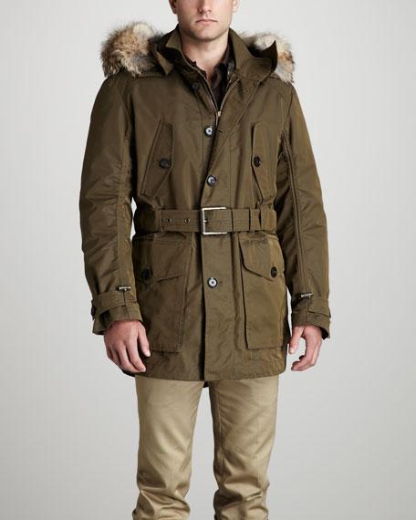 Litchfield Fur-Trim Parka
