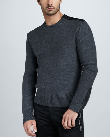 Nailsea Leather-Trim Sweater