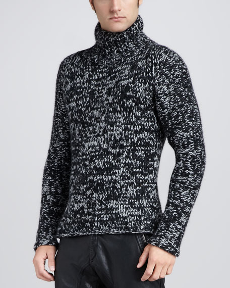 Kirby Melange Mock-Neck Sweater