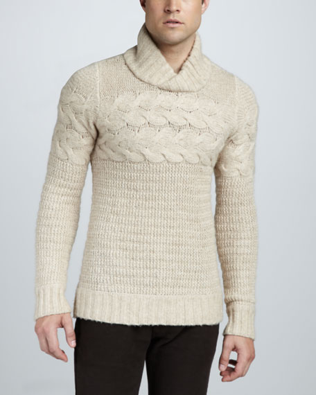 Sibley Shawl-Collar Sweater