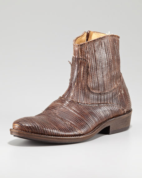 Laser-Etched Ankle Boot