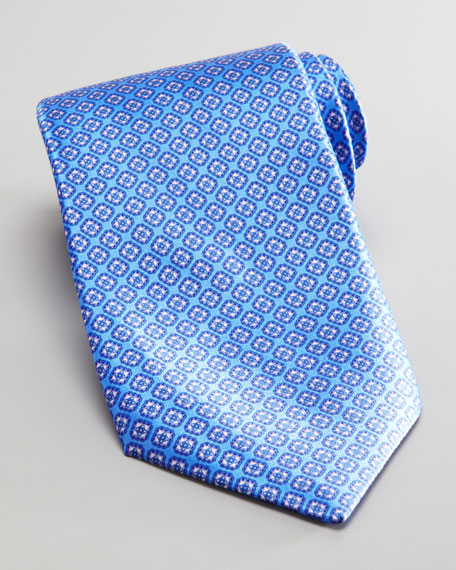 Square Silk Tie, Light Blue