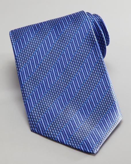 Tonal Stripe Silk Tie, Purple