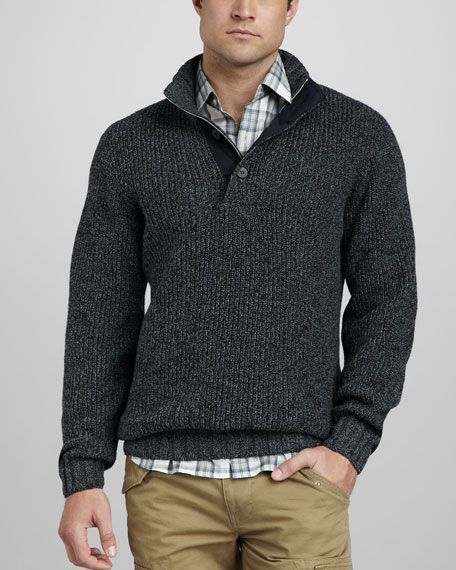 Stretch-Cotton Sweater
