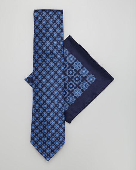 Silk Tie & Pocket Square Set, Navy