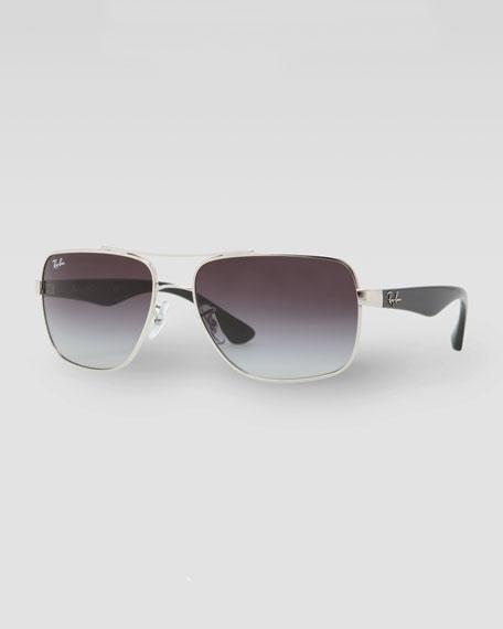 Navigator Sunglasses, Black