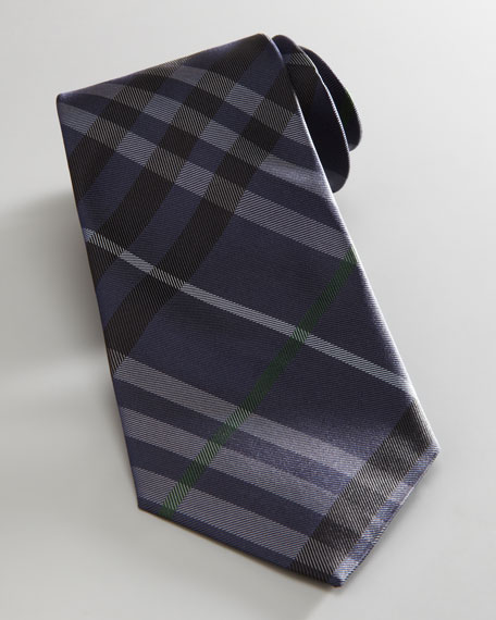 Check Tie, Navy/Black