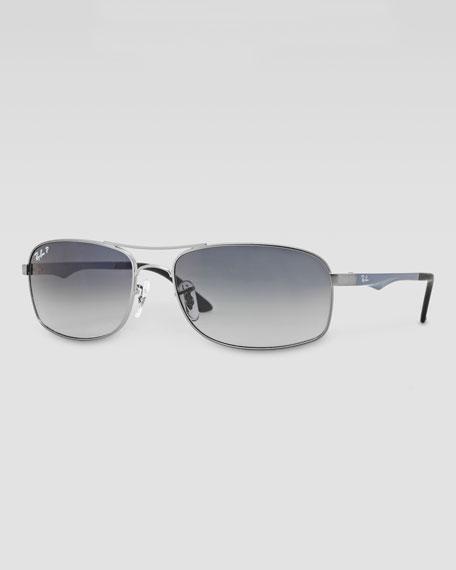Polarized Navigator Sunglasses, Dark Blue
